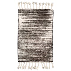 Ivory and Gray Moroccan Style Custom Rug