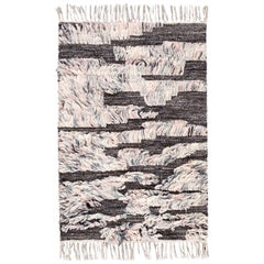 Ivory and Gray Moroccan Style Customized Rug