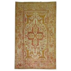 Ivory Antique Angora Oushak Rug