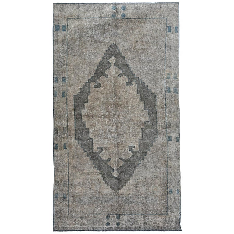 Ivory Wool And Silk Persian Naein Area Rug For Sale At 1stdibs: Ivory, Beige And Gray Handmade Wool Turkish Old Anatolian