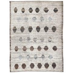Ivory Berber Style Geometric Design Oversize Rug