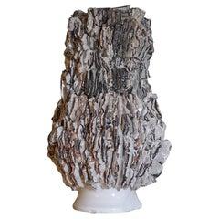 Ivory Glazed Ceramic Tall Vase by Studio Thao, Italy, 2021