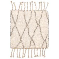 Ivory Moroccan Style Custom Rug