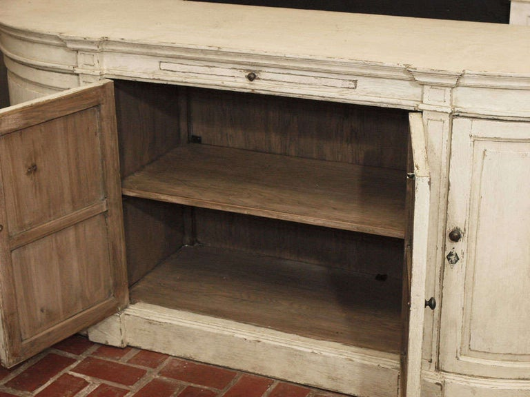French Ivory Painted Oak Buffet For Sale