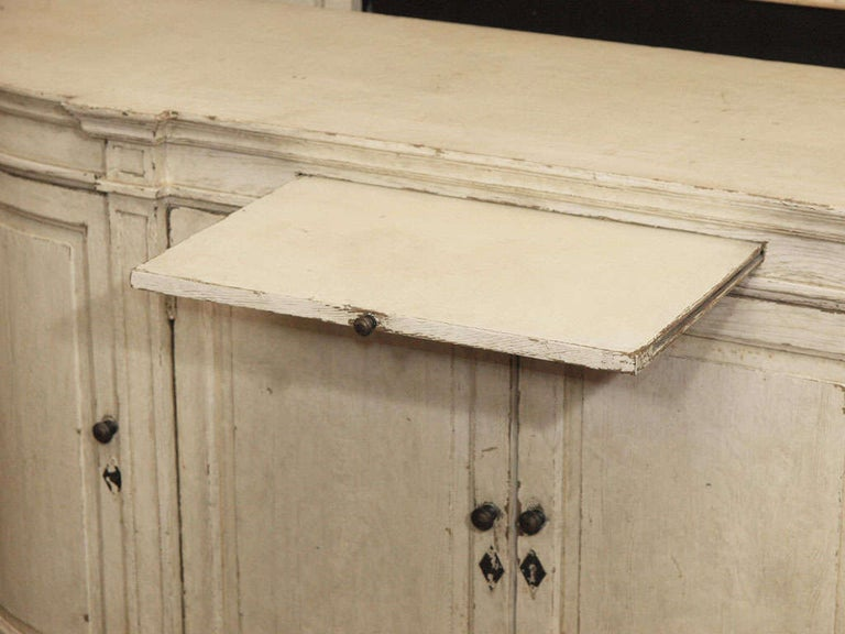 Mid-20th Century Ivory Painted Oak Buffet For Sale