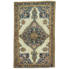 Ivory Persian Throw Rug