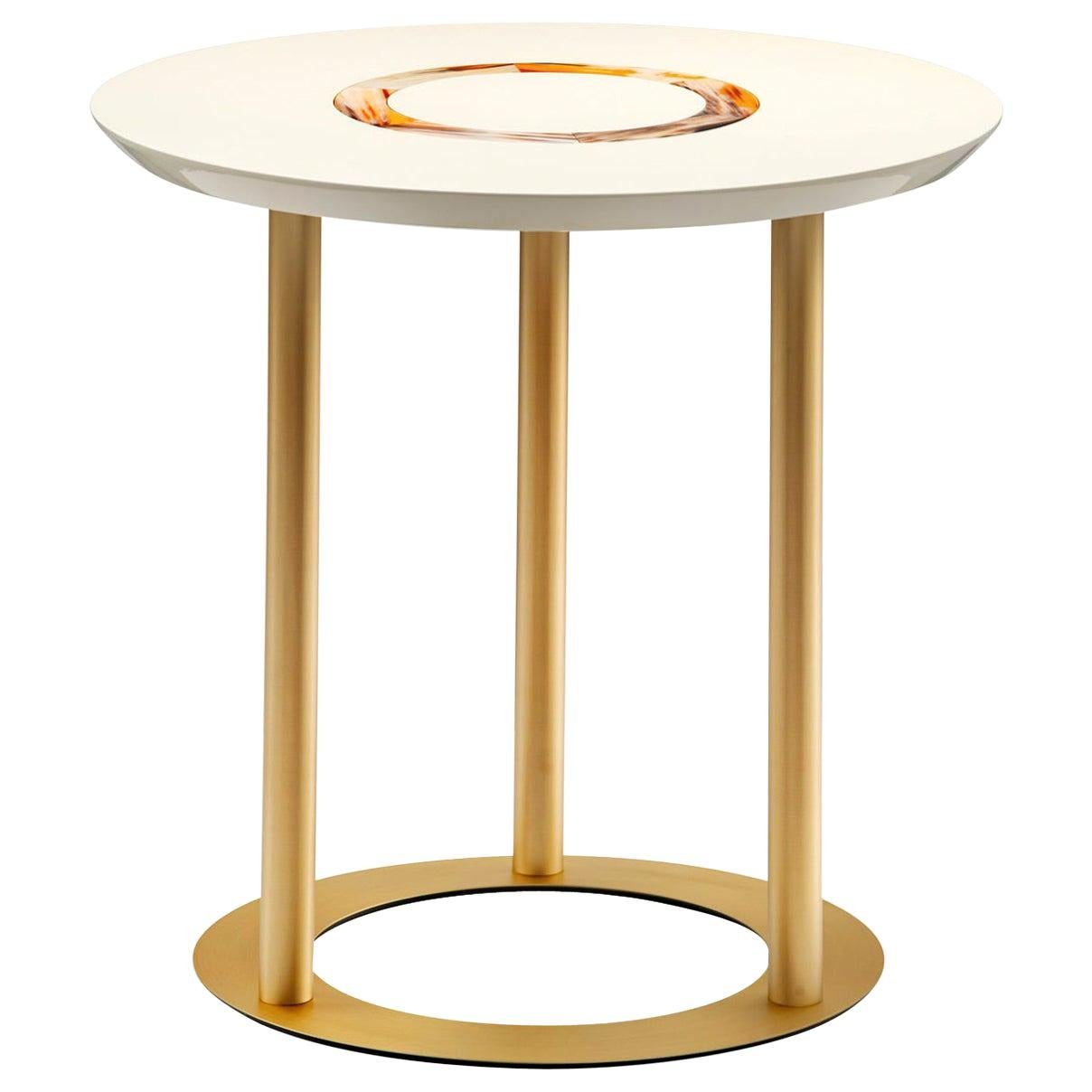 Ivory Round Side Table