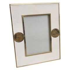 Ivory Shagreen with Tiger Eye Photo Frame by Fabio Ltd