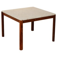 Ivory Stone and Rosewood legs Coffee/Side Table
