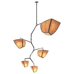 Ivy 5 Bamboo V1 (ABCDE) - mobile chandelier handmade by Andrea Claire Studio
