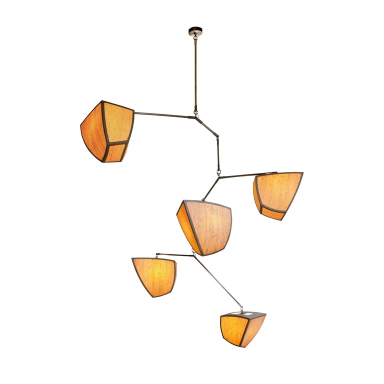 """Custom Large Handmade Mobile Chandelier """"Ivy 5"""" by Andrea Claire Studio For Sale"""