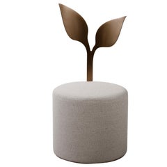 IVY Contemporary Pouf in Metal and Fabric by Artefatto Design Studio