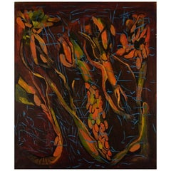 Ivy Lysdal, Acrylic on Canvas, Abstract Modernist Painting, Dated 1997