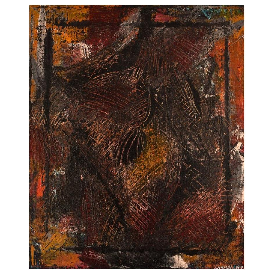 Ivy Lysdal, Acrylic on Canvas, Abstract Modernist Painting, Dated 1998