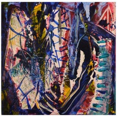 Ivy Lysdal, Acrylic on Canvas, Abstract Modernist Painting, Dated 2006
