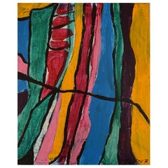 Ivy Lysdal, Acrylic on Canvas, Abstract Modernist Painting, Dated 2007