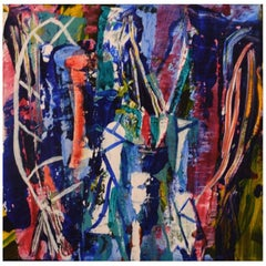 Ivy Lysdal, Acrylic on Canvas, Abstract Modernist Painting, Late 20th Century