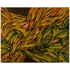 Ivy Lysdal, b. 1937. Acrylic on Canvas. Abstract Modernist Painting. Dated 2003