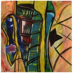 Ivy Lysdal, b 1937, Acrylic on Canvas, Abstract Modernist Painting, Dated 2005