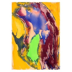 Ivy Lysdal, B 1937, Gouache on Cardboard, Abstract Modernist Painting