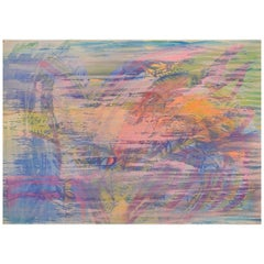 Ivy Lysdal, Gouache and Oil Crayon on Cardboard, Abstract Modernist Painting