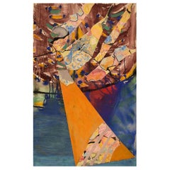Ivy Lysdal, Mixed-Media on Cardboard, Abstract Modernist Painting