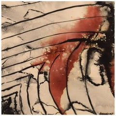 Ivy Lysdal, Mixed-Media on Paper, Abstract Modernist Painting, 2005