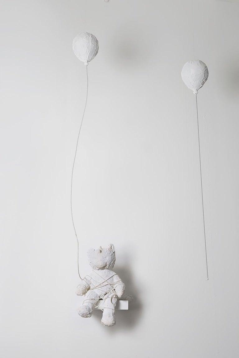 <em>Bear with Balloons</em>, 2018, by Ivy Naté