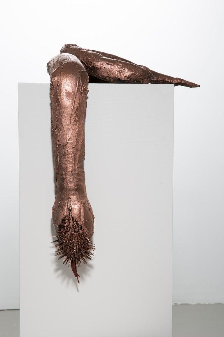 Ivy Naté Figurative Sculpture - Sculpture Snake with spikes: 'Snake'