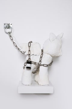 Sculpture of Unicorn with Chain: 'Unicorn in Chains'