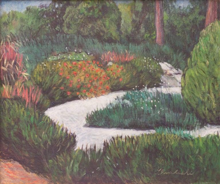 Herb Garden I - Impressionist Painting by Iwahashi