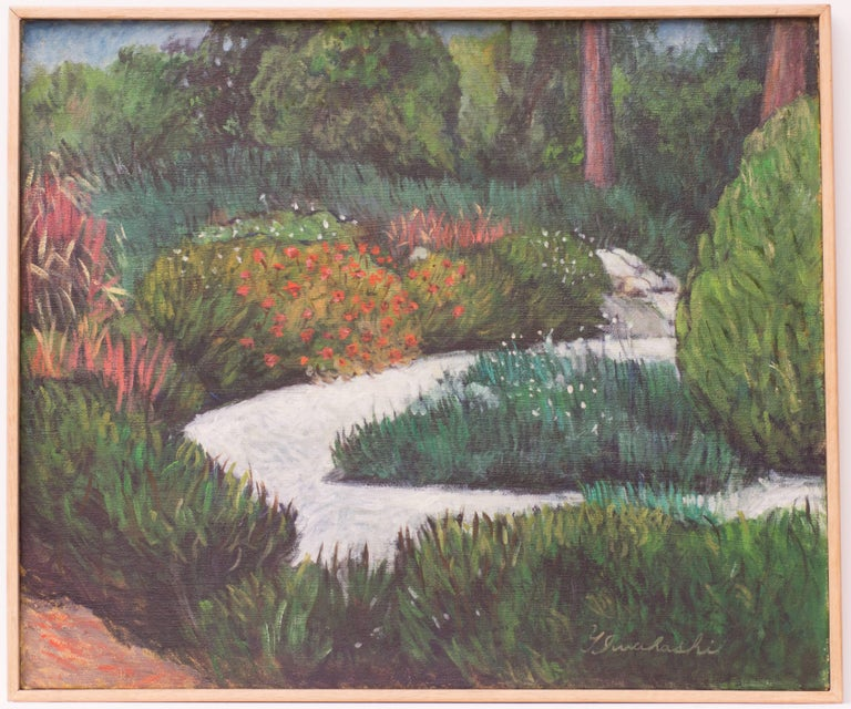 Iwahashi Landscape Painting - Herb Garden I