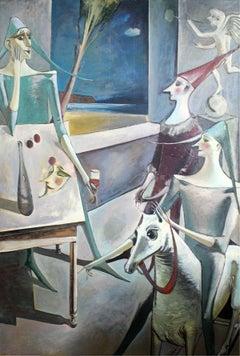 Toy horse - XX Century, Figurative Oil Painting, Portait, Still Life, Animal