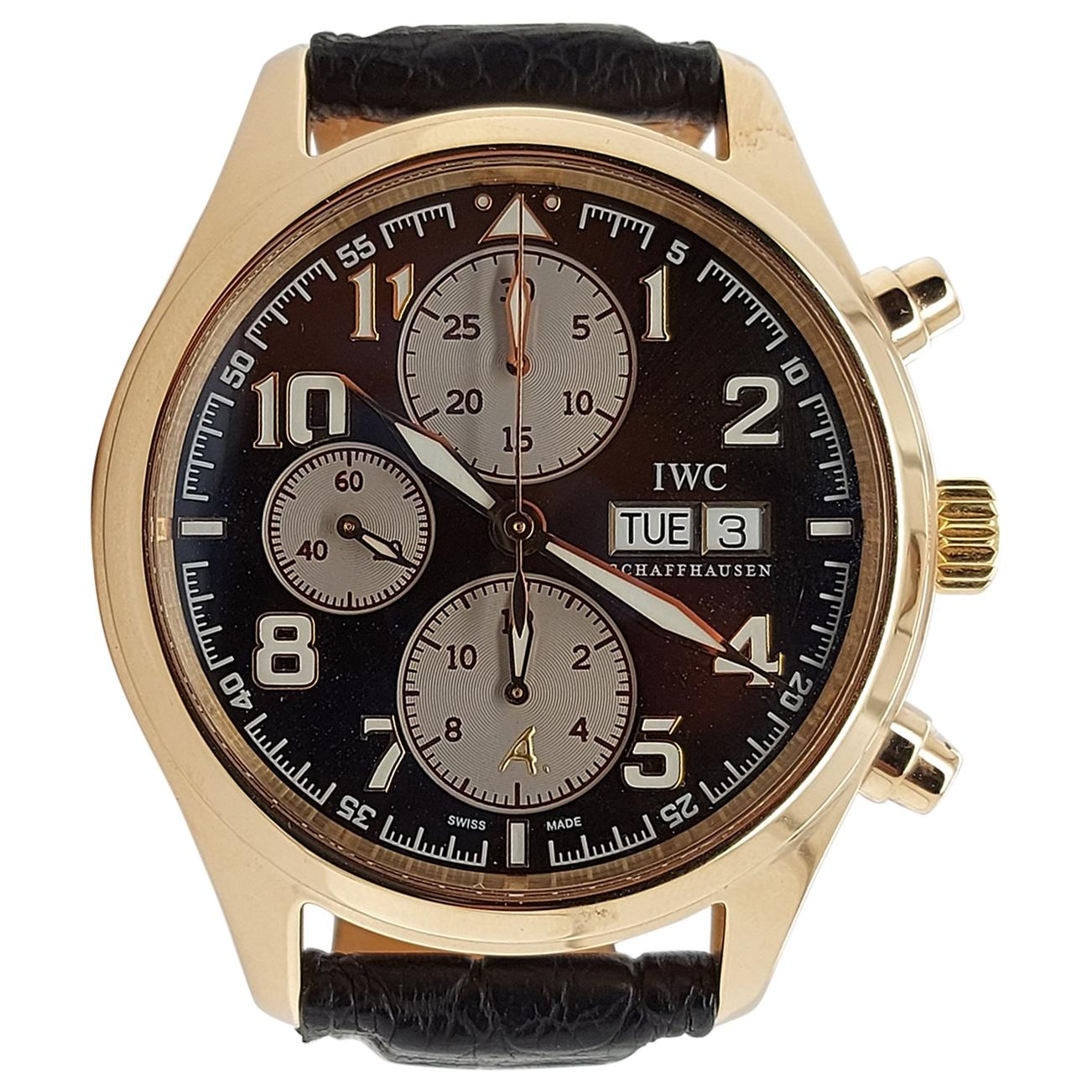 IWC 18kt Gold Limited Edition Antoine Saint Exupéry Pilot Chronograph Wristwatch