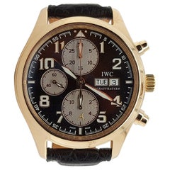 IWC 18kt Gold Limited Edition Antoine Saint Exupéry Pilot Chronograph Wristwatch
