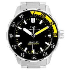 IWC Aquatimer 2000 Automatic Steel Men's Watch IW356801 Card