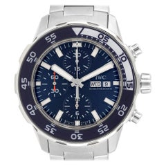 IWC Aquatimer Automatic Chrono Day Date Blue Strap Men's Watch IW376710