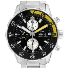 IWC Aquatimer Chronograph Black Yellow Day Date Men's Watch IW376701