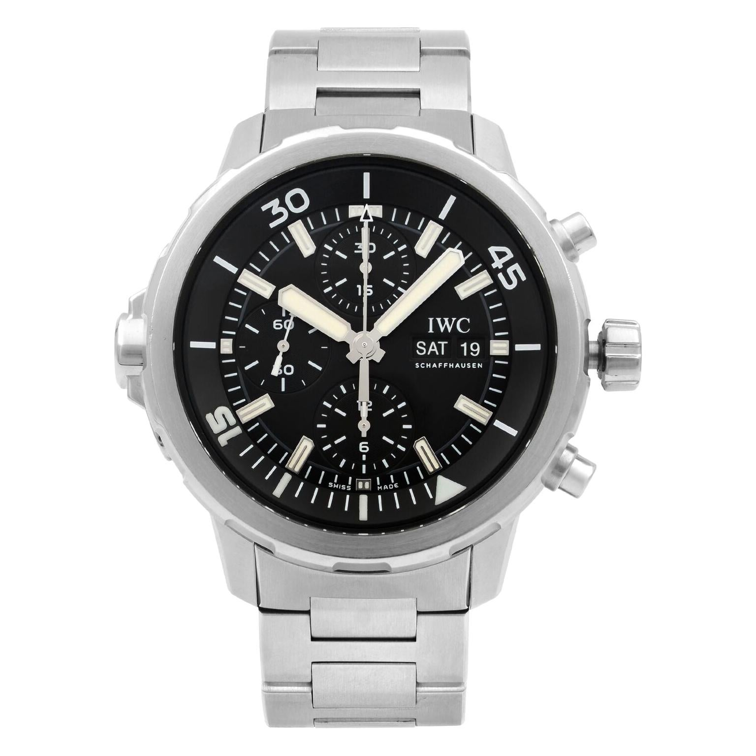 IWC Aquatimer Chronograph Steel Black Dial Automatic Men's Watch IW376804