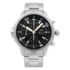 IWC Aquatimer Chronograph Steel Black Dial Automatic Men's Watch IW376804