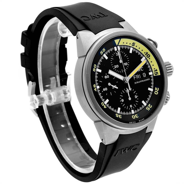 IWC Aquatimer GST Automatic Chronograph Day Date Men's Watch IW371918 In Excellent Condition For Sale In Atlanta, GA