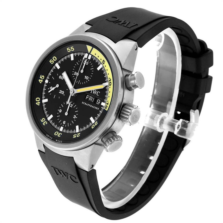 Men's IWC Aquatimer GST Automatic Chronograph Day Date Men's Watch IW371918 For Sale