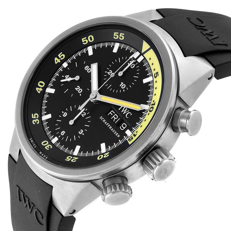 IWC Aquatimer GST Automatic Chronograph Day Date Men's Watch IW371918 For Sale 1