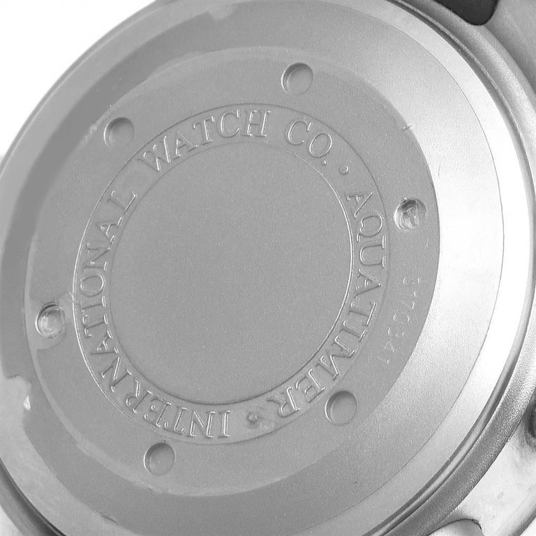 IWC Aquatimer GST Automatic Chronograph Day Date Men's Watch IW371918 For Sale 2