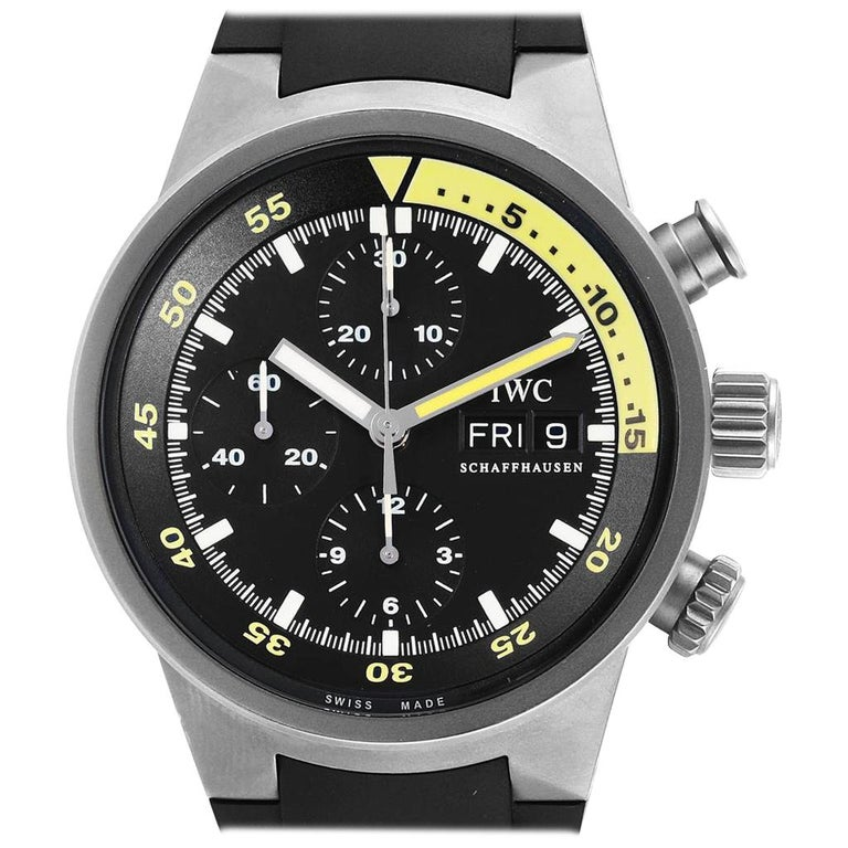 IWC Aquatimer GST Automatic Chronograph Day Date Men's Watch IW371918 For Sale