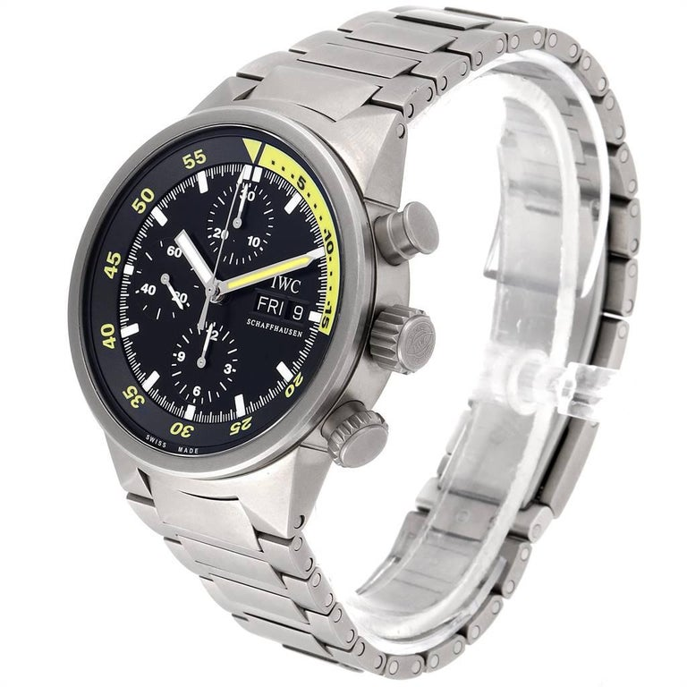 Men's IWC Aquatimer GST Titanium Chronograph Day Date Men's Watch IW371903 For Sale