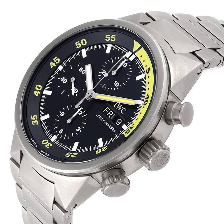 IWC Aquatimer GST Titanium Chronograph Day Date Men's Watch IW371903 For Sale 1