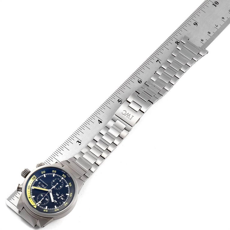 IWC Aquatimer GST Titanium Chronograph Day Date Men's Watch IW371903 For Sale 4