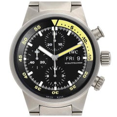 IWC Aquatimer GST Titanium Chronograph Day Date Men's Watch IW371903