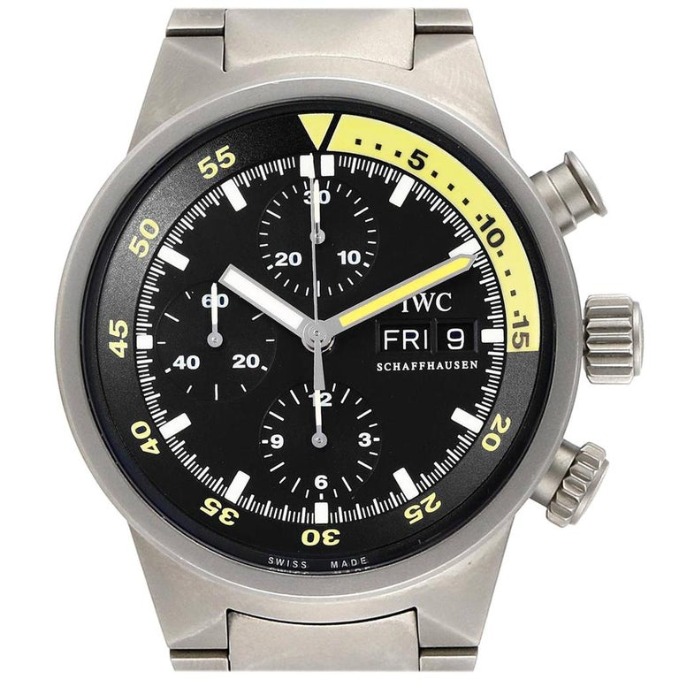 IWC Aquatimer GST Titanium Chronograph Day Date Men's Watch IW371903 For Sale